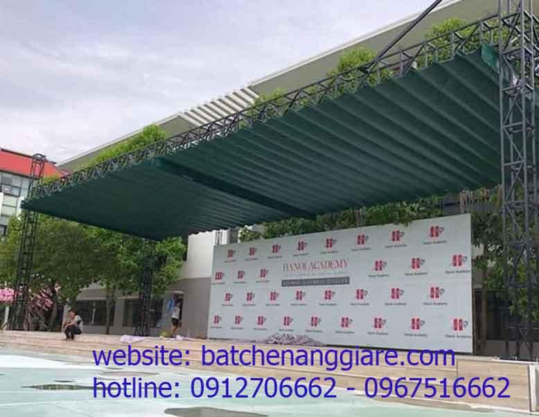 bạt xếp lớp lượn sóng che nắng mưa tại Tỉnh Nghệ An