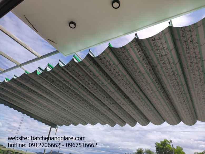 bạt xếp lớp lượn sóng che nắng mưa tại Yên Bái